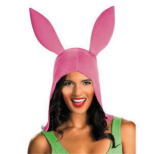 Louise's Bunny Ears Hat 'Bob's Burger' Costume Disguise 43324