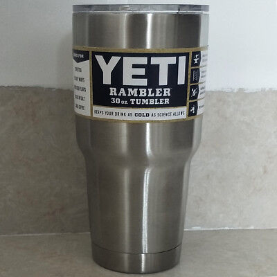 Yeti Rambler Tumbler 30oz Stainless Steel Tumbler Cup with Lid - Free - Cup Lids