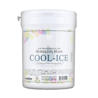 AnSkin COOL-ICE Modeling Mask Powder Pack Brightening Soothing skin care 700ml