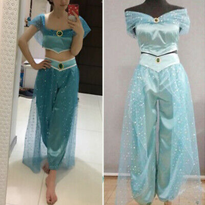 Aladdin Jasmine Cosplay Adult Women Halloween Fancy Dress Up Party Costume US