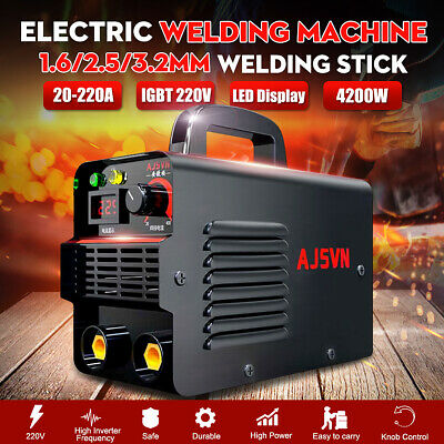 220v Zx7-225 Mini Digital Arc Welding Machine Stick Welder Inverter Mma Igbt