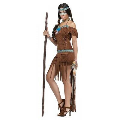 Pocahontas Costume Adult Indian Princess Halloween Fancy Dress