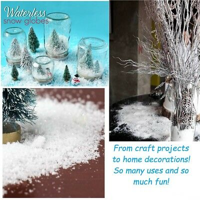 - Christmas Holiday Snow Artificial Snowflakes Fake Decoration Craft Gift Idea 7oz