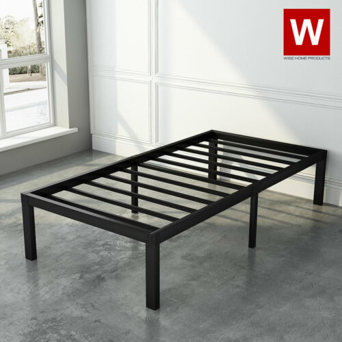 """Twin XL Heavy Duty Steel Bed Frame - Modern Twin XL Platform Bed - Height 14"""""""