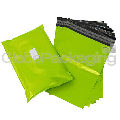 10 x Strong LIME NEON GREEN 6x9
