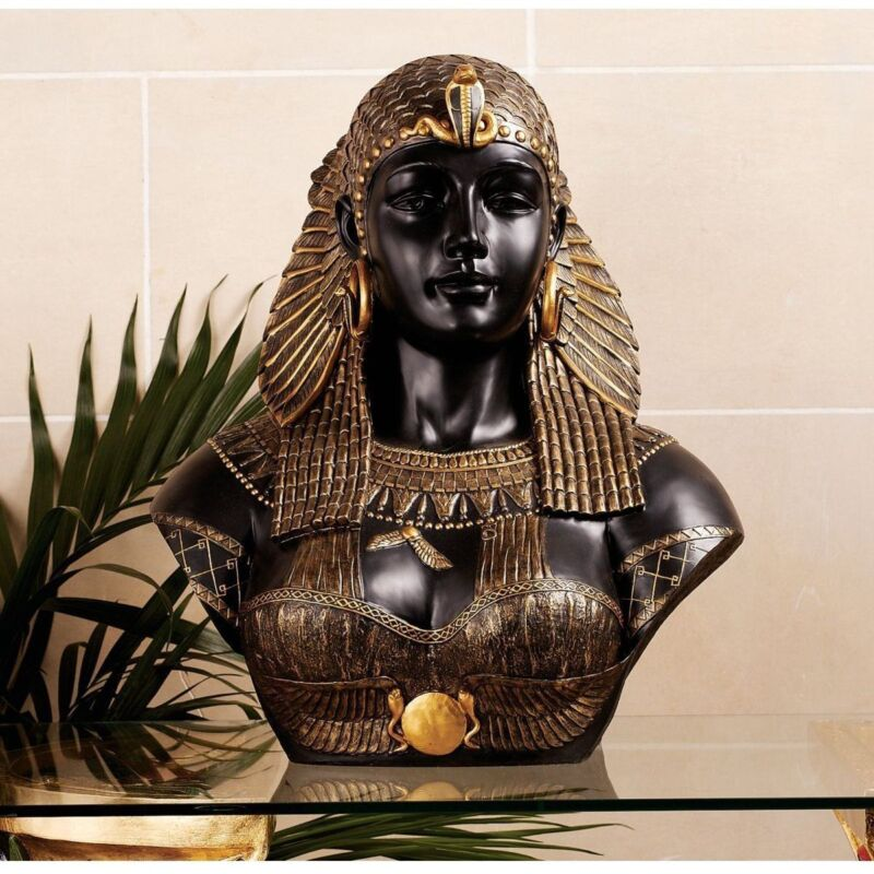 Queen Cleopatra Sculptural Bust Neoclassical Life-Size Egyptian Statue