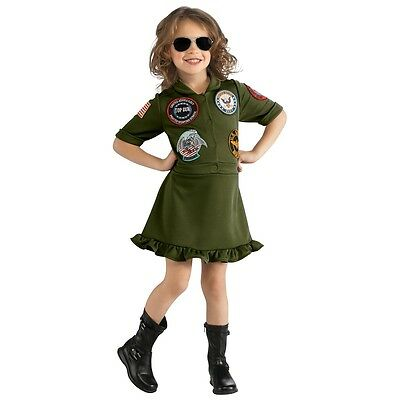 Top Gun Flight Dress Halloween Costume (Top Gun Flight Dress Kids Navy Military Pilot Aviator Halloween Fancy)