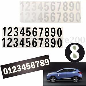 Street Address Mailbox Number Car Vinyl Decal Reflective Stickers White Black