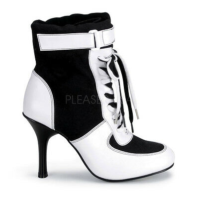 Sexy Sports Soccer Football Referee Halloween Women's Costume Ankle HIgh Boots