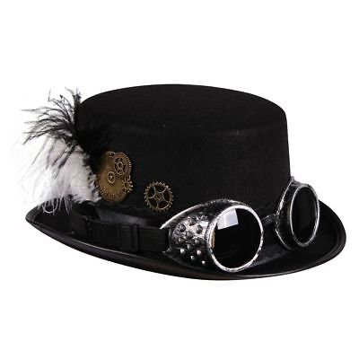 �r Steampunk Zylinder schwarz Karneval Fasching  (Steampunk Kostüm Zubehör)