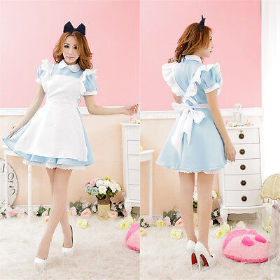 Adult Alice in Wonderland Costume Fancy Lolita Dress Party Cosplay Costume - Adult Alice Costume