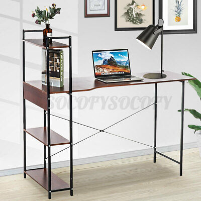 4 Tier Computer Desk Table Laptop Display Bookshelf Study Writing Home Office