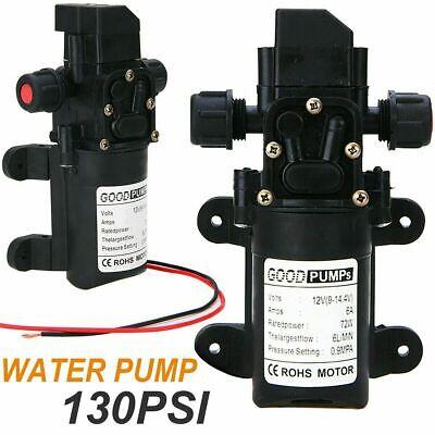 130 Psi 6lmin Water High Pressure Switch Diaphragm Self Priming Pump Dc12v 70w