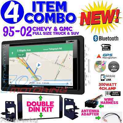 95-02 GM TRUCK/SUV DVD CD NAVIGATION BLUETOOTH DOUBLE DIN CAR STEREO RADIO