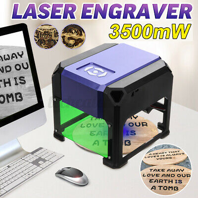 Us 3500mw 3d Laser Engraving Cutting Machine Engraver Cnc Diy Logo Mark Printer