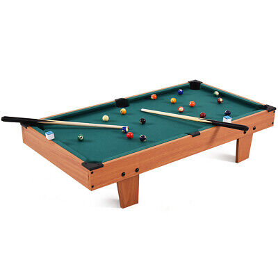 """36"""" Mini Table Top Pool Table Game Billiard Set Cues Balls Gift Indoor Sports Sports Ball Top"""