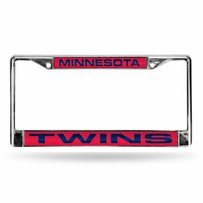 Minnesota Twins MLB Chrome Metal Laser Cut License Plate Frame Minnesota Twins Laser