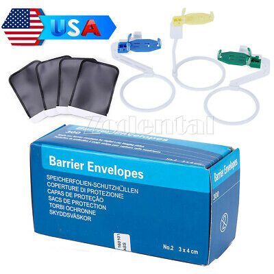 Dental Digital X-ray Films Sensor Positioner Holder Barrier Envelopes Size 2