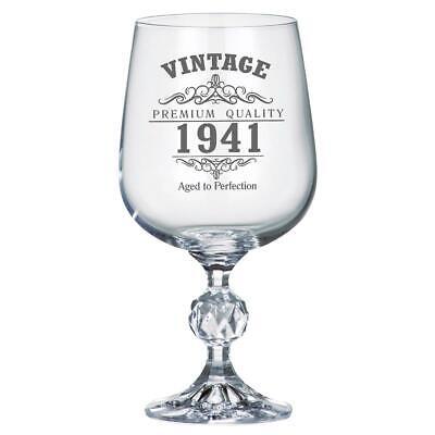 Vintage 1941 80th Geburtstag Wein Kelch