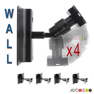 NEW-4-Universal-Speaker-Wall-Mount-Brackets-Swivel-Ball