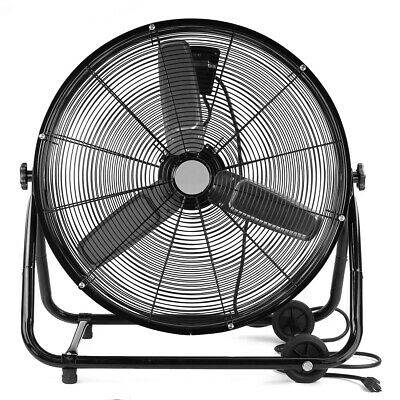 "24"" Inch Commercial Rolling Drum Floor Fan Shop Industrial A"