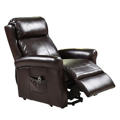 Electric Power Lift Recliner Chair Leather Lazy Sofa Man Affordable Livingroom