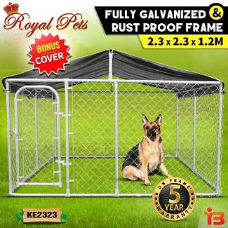 Fully Galvanized Pet Enclosure Cage with Rust Proof Frame
