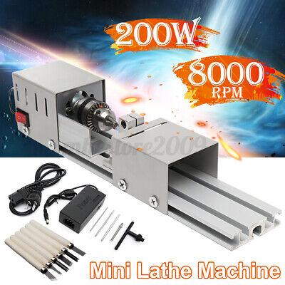 200w Auto Mini Lathe Bead Machine Diy Lathe Polishing Drill Polisher Woodworking