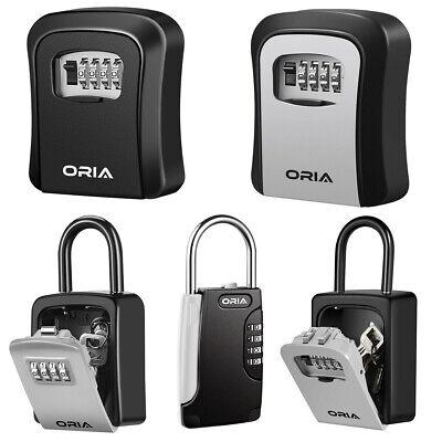 1 Package Wall Mountedpadlock 4-digit Combination Key Lock Storage Security Box
