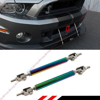 Neo Chrome Stainless Steel Adjustable Bumper Lip Splitter Strut Rod Tie Support  Stainless Steel Splitter