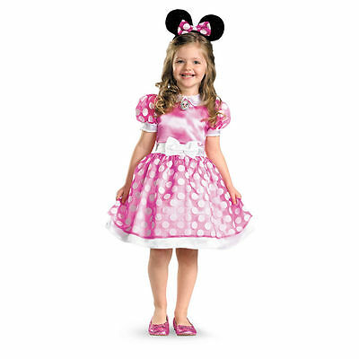 Minnie Mouse Costume For Girls (Minnie Mouse Costume PINK Classic Toddler & Girls Child Disney)