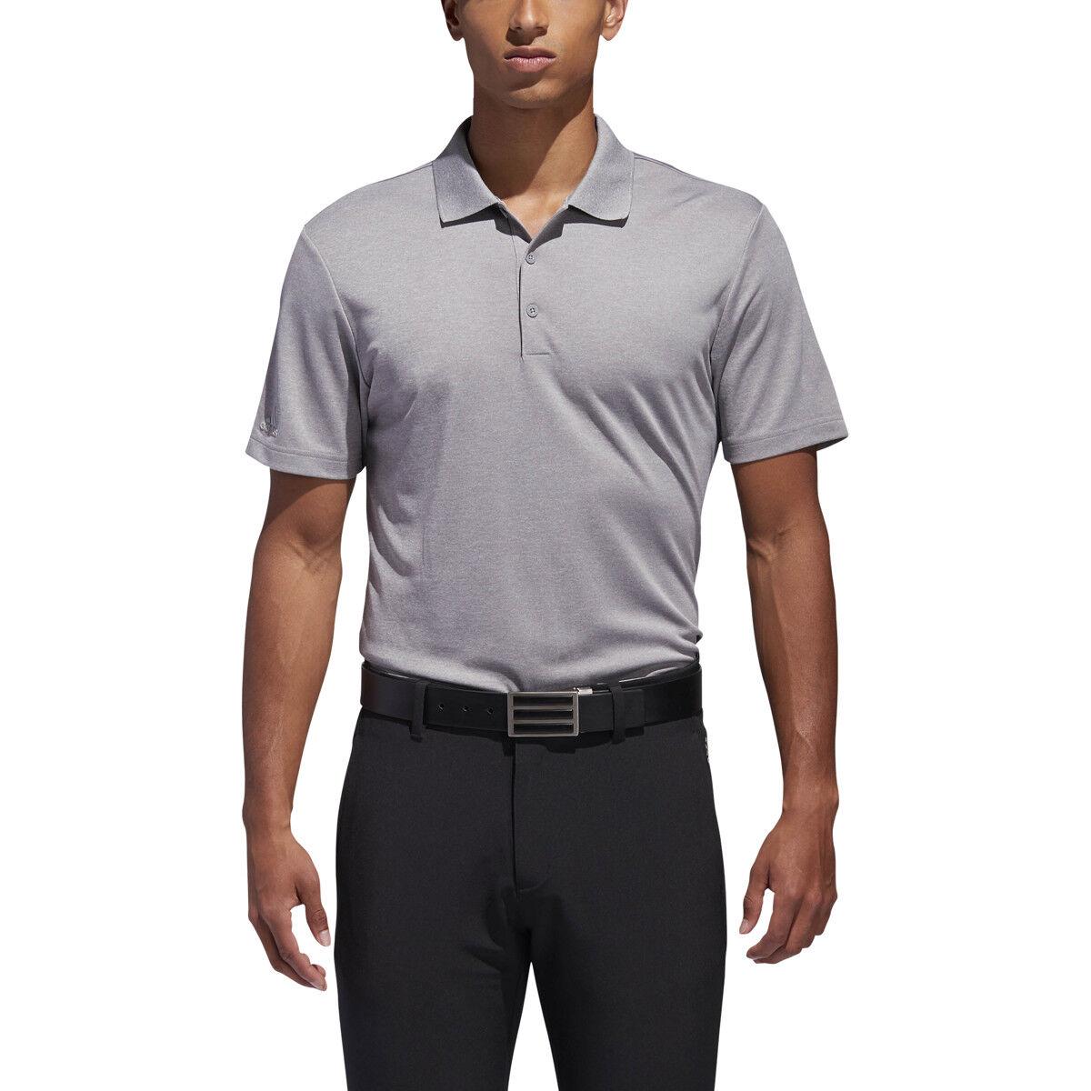 New 2018 Adidas Performance Golf Grey Heather Polo Shirt Medium (M)