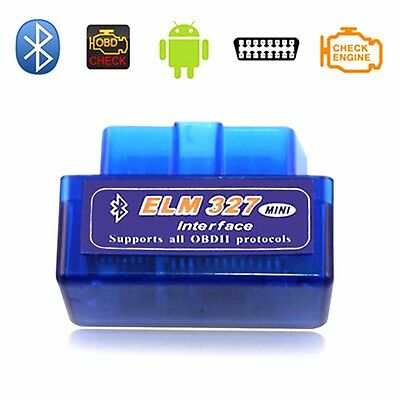 OBD2 II ELM327 V2.1 Auto MINI Bluetooth Diagnostic Scanner Tool by TEQstone