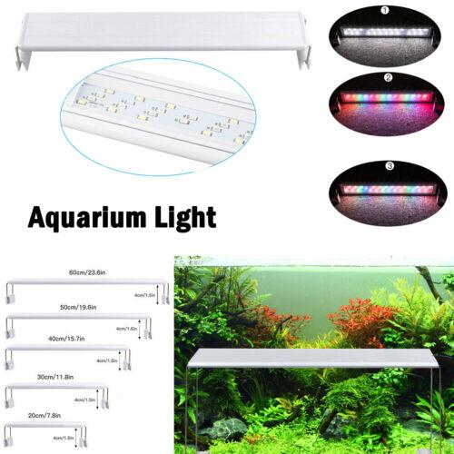 LED Aquarium Licht Fisch Pflanzen Abdeckung Beleuchtung Spektrum Lampe 20cm-60cm