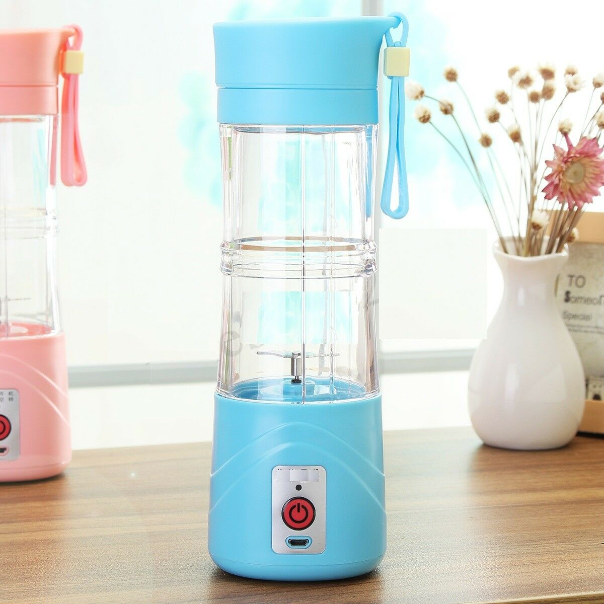 EHM Portable Personal Juicer Blender Cup Fruit Smoothie Mixer Maker Travel