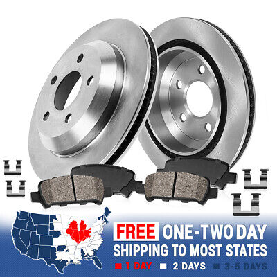 For INFINITI FX50 M35h M37 M37X M56 M56X Rear Brake Rotors and Ceramic Pads Kit
