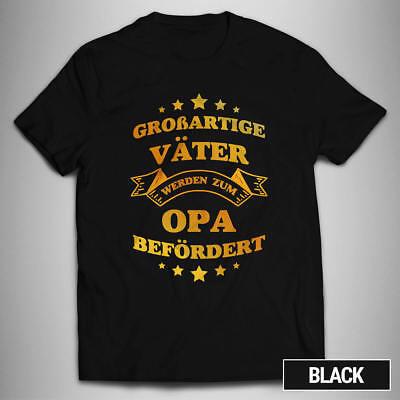 Opa T-shirt (Großartige Väter werden Opa T-SHIRT Papa Enkel Familie Liebe Geschenkidee TD274)