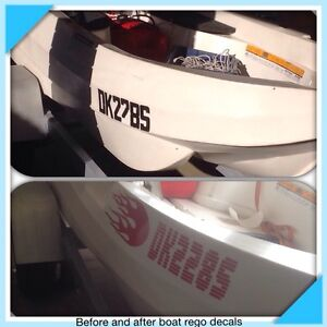 Boat & JetSki  rego decals names and stickers Paralowie Salisbury Area Preview