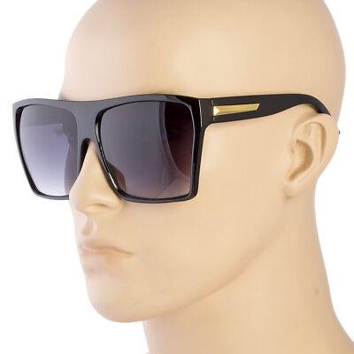Neu Quadratisch Damen XL Flach Top Große Sonnenbrille Groß Übergröße Riesig