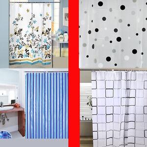 Luxury Modern Design Water Repellent Bathroom Shower Curtains With Hooks 180x180 Ebay