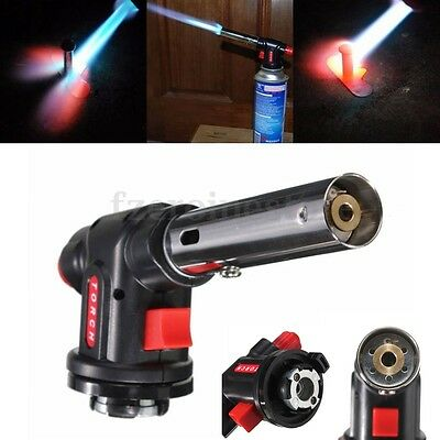 Flamethrower Burner Butane Gas Blow Torch Auto Ignition Camping Welding