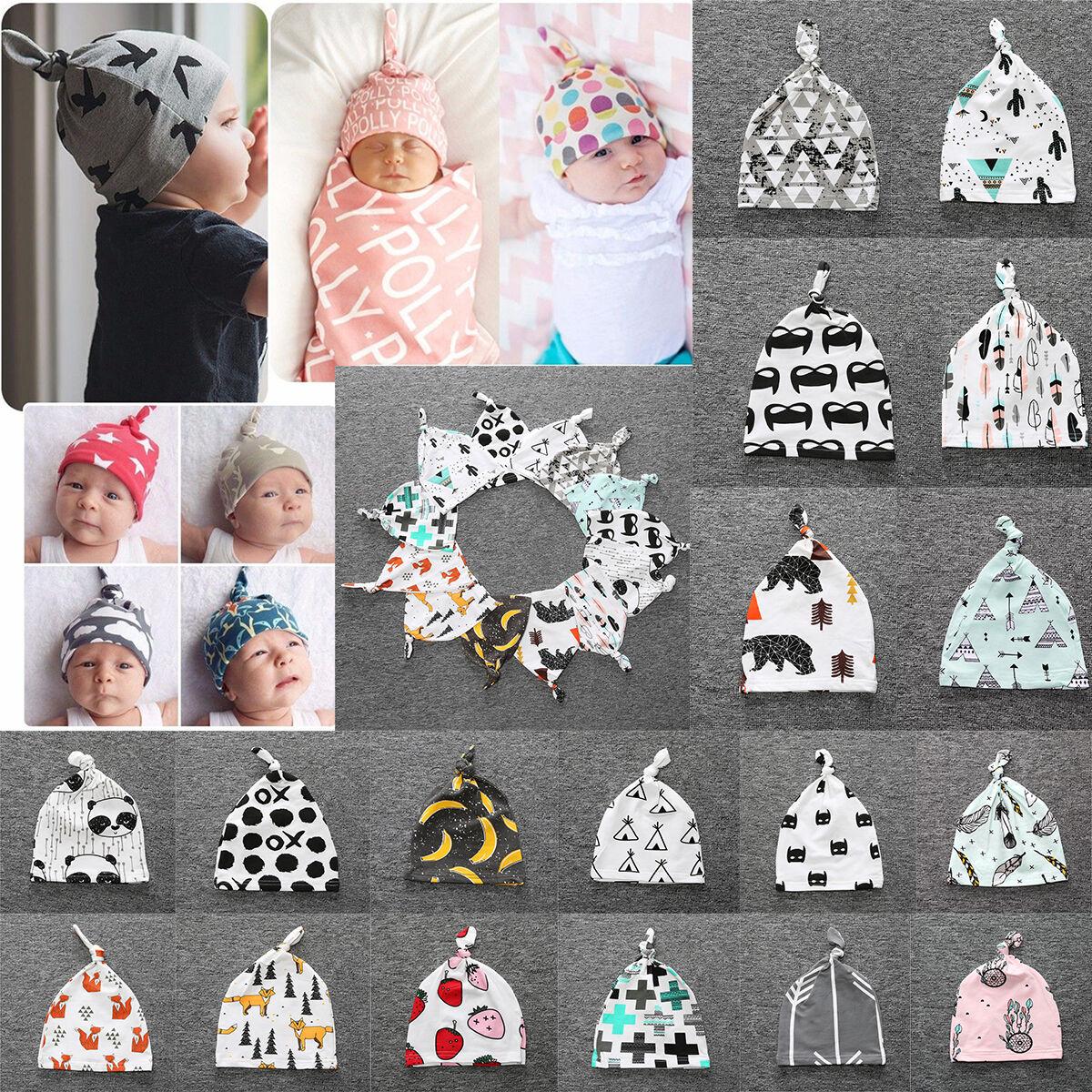 8983805f2a5 Details about Baby Newborn Girls Boys Infant Toddler Cartoon Beanie Cotton  Hat Cap Warm Hats