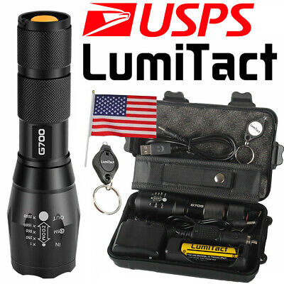 20000lm Genuine Lumitact G700 Tactical Flashlight Military Grade Torch Set
