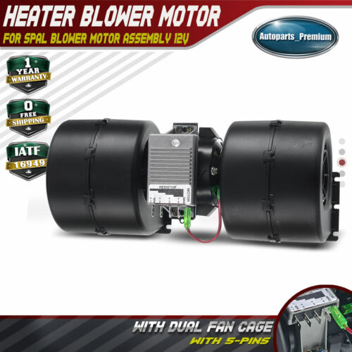 008-A45-02 26-19939 HVAC Heater Blower Motor W//Fan Cage Car Front ABS Plastic