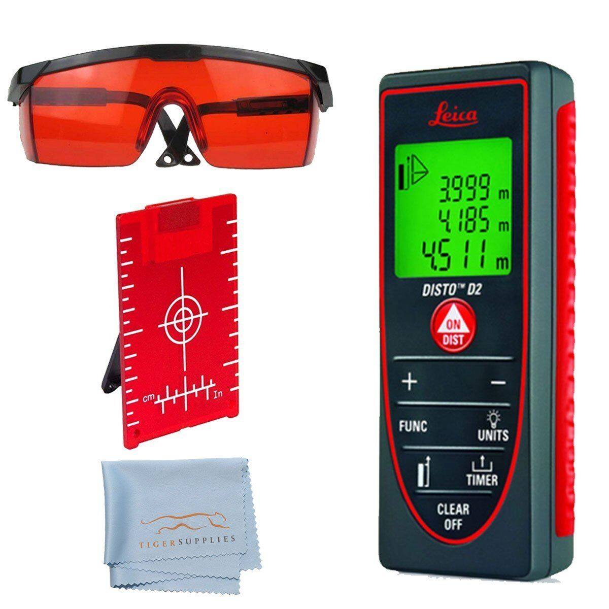 leica disto d2 laser distance meter 763495 w accessory kit target plate ebay. Black Bedroom Furniture Sets. Home Design Ideas
