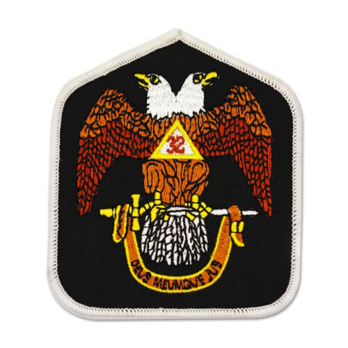 32nd Degree Eagle Embroidered Masonic Patch - [Black, Brown & Yellow][3