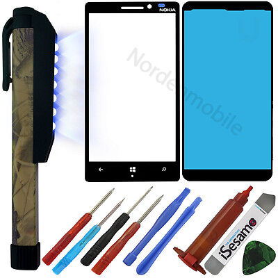 Nokia Lumia 930 LCD Display Glas Front Glass Scheibe + UV LICHT LAMPE + LOCA  ()