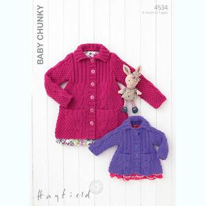 Sirdar Baby & Childrens Knitting Pattern - 4534 - Jackets - Hayfield Baby Chunky