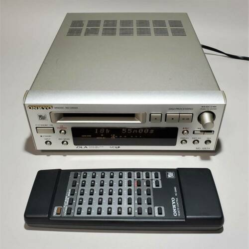 ONKYO MD-105TX Mini Disc Recorder High Speed Audio MDLP W/Remote Tested working