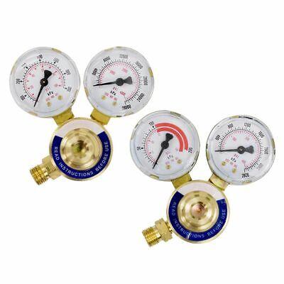 Gas Welding Welder Regulator Rear Oxygen Acetylene Pressure Gauge Victor Type